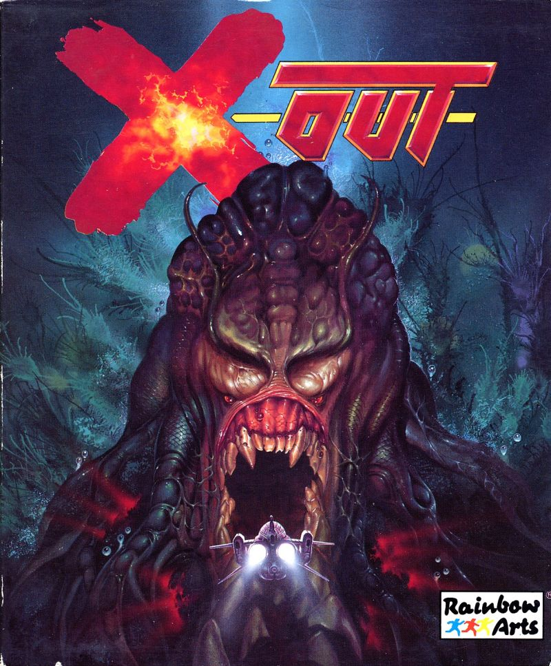 X-OUT Retro Game Box Art by Celal Kandemiroglu - 80s and 90s Arcades, Retro Games and Classic Video Games
