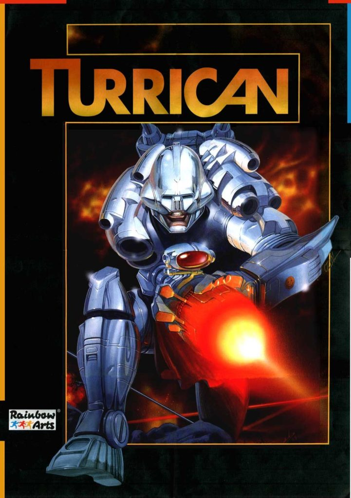 Turrican Retro Game Box Art by Celal Kandemiroglu - 80s and 90s Arcades, Retro Games and Classic Video Games