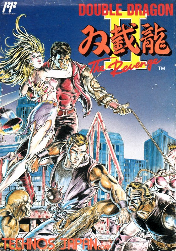 Double Dragon II Box Art by Kasumi Kakizaki- 80s and 90s Arcades, Retro Games and Classic Video Games